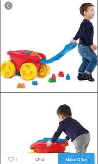 🚚 Mega bloks first builders play 'n go wagon classic
