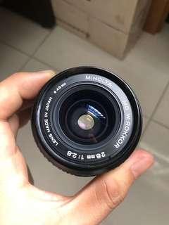 🚚 Minolta MD W-Rokkor 28mm F2.8 Lens
