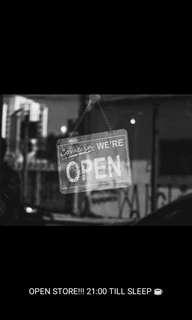 Open store