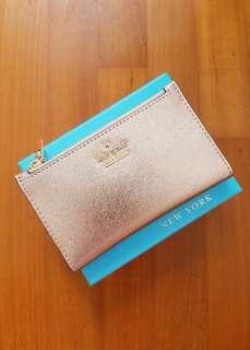 🚚 Kate Spade Cameron Street Mikey Wallet Rose Gold (Extremely Rare! Very Hard to Find Color!)