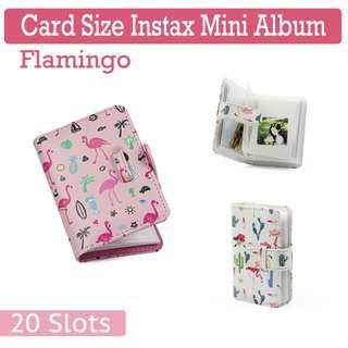 🚚 Card Size Flamingo Fujifilm Instax Mini Film Album - 20 Slot