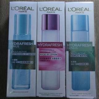 L'Oreal Paris 護膚套裝(面膜精華水+保濕凝露+保濕精華水)