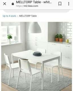 Ikea Melltrop *Dining Table* (sits 4-6)