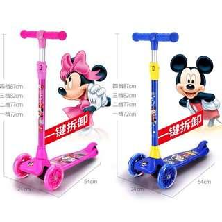 Mickey / Minnie Mouse Scooter For Kids