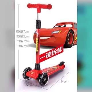 Lighting McQueen Scooter For Boy