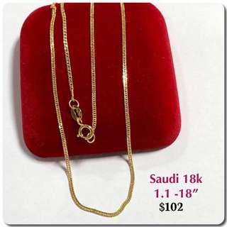 Preorder Chains: Genuine 18K|750 Gold