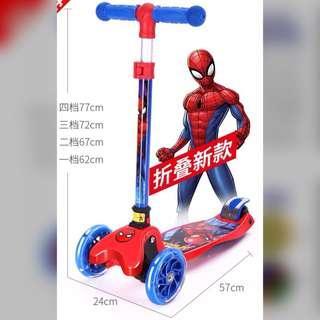 Boy Spiderman Scooter / Scooty