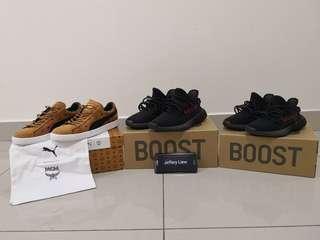 Adidas yeezy 350 boost bred puma mcm