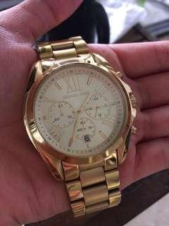 Authentic Michael Kors Gold Bradshaw Watch