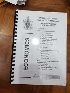 RI H1 Macro Econ Notes
