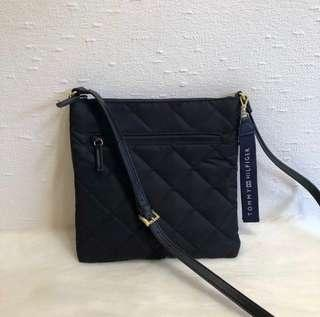 Tommy Hilfiger Quilted Nylon crossbody sling bag