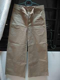Brown straight trousers