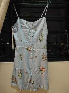 Flower Light blue dress