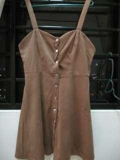 Brown dress, can be match with a shirt wearing inside