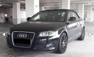 Audi A3 Cabriolet self drive for your wedding.
