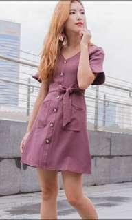 🚚 Mauve button down dress