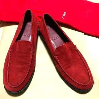 BALLY 真皮麂皮休閒鞋(降價)
