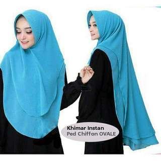 Hijab Instan Ped chiffon Ovale