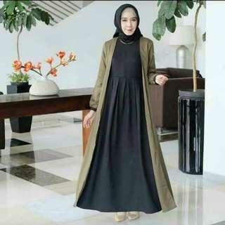 Jamila Dress (Army - Black)