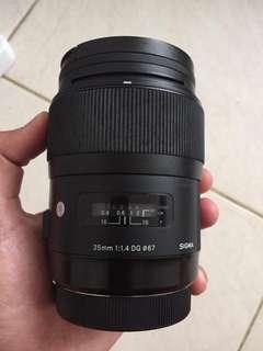 Lensa Sigma 35mm f1.4 ART for Canon