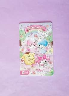 Sweet Sanrio Characters Ezlink card