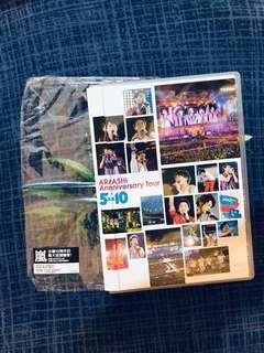 嵐ARASHI ANNIVERSARY TOUR 5 X 10 ( 2DVD )台版 (價錢可議)