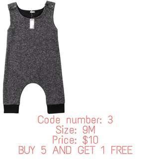 🚚 Grey sleeveless romper ( INSTOCK & BN)