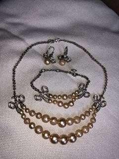 Vivienne Westwood Pearl necklaces earrings Set