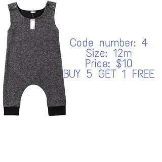 🚚 Grey sleeveless romper (INSTOCK & BN)