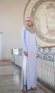Inayah split front maxi dress