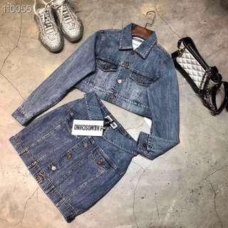Jacket and Skirt set Moschino High Quality