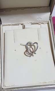 Citigems 2 hearts pendant