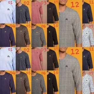 🚚 KURTA RINDU PRINTED baju melayu kurung nikah tunic tunik blouse peplum top