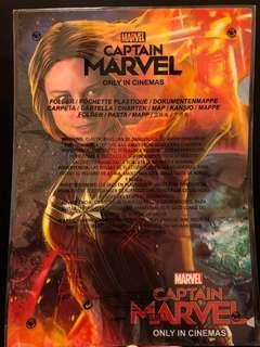 Captain Marvel 電影 未開封全新 A4 file