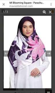 """Mawaddah Izzati Square Hijab (50"""") Purple"""