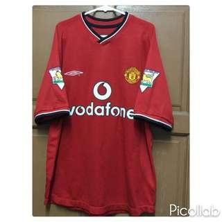 Original Manchester United 2000/2001 Home Kitt Jersey