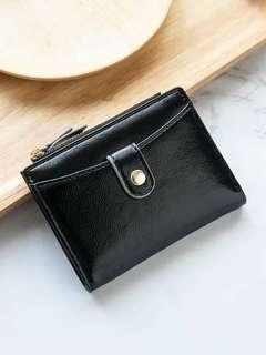 🚚 Black ulzzang mini wallet