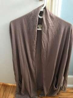 Aritzia Wilfred Drapey Taupe/Mauve Cardigan Size Small