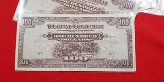 $100 Japanese Malaya 1944