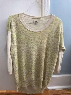 Aritzia Wilfred Animal Print Sweater Size Small