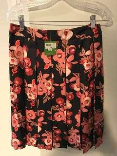 Kate Spade Floral Pleated Skirt Size 10 BNWT