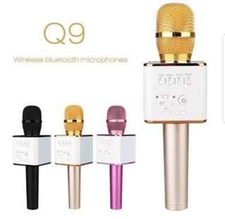 Mic Bluetooth Q9 (pink,gold,hitam)