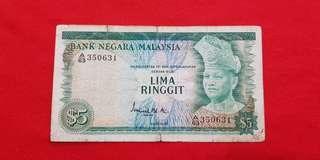 $5 Malaysia 1972