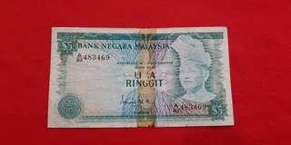 $5 Malaysia 1976