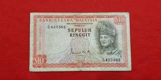 $10 malaysia 1972