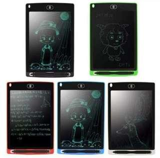 """🚚 BN 8.5"""" e-Writer LCD Drawing Writing Tablet Board Memo Note Pad Red or White SIMILAR TO Boogie Board"""