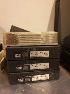 Alpine DVD changer cassettes