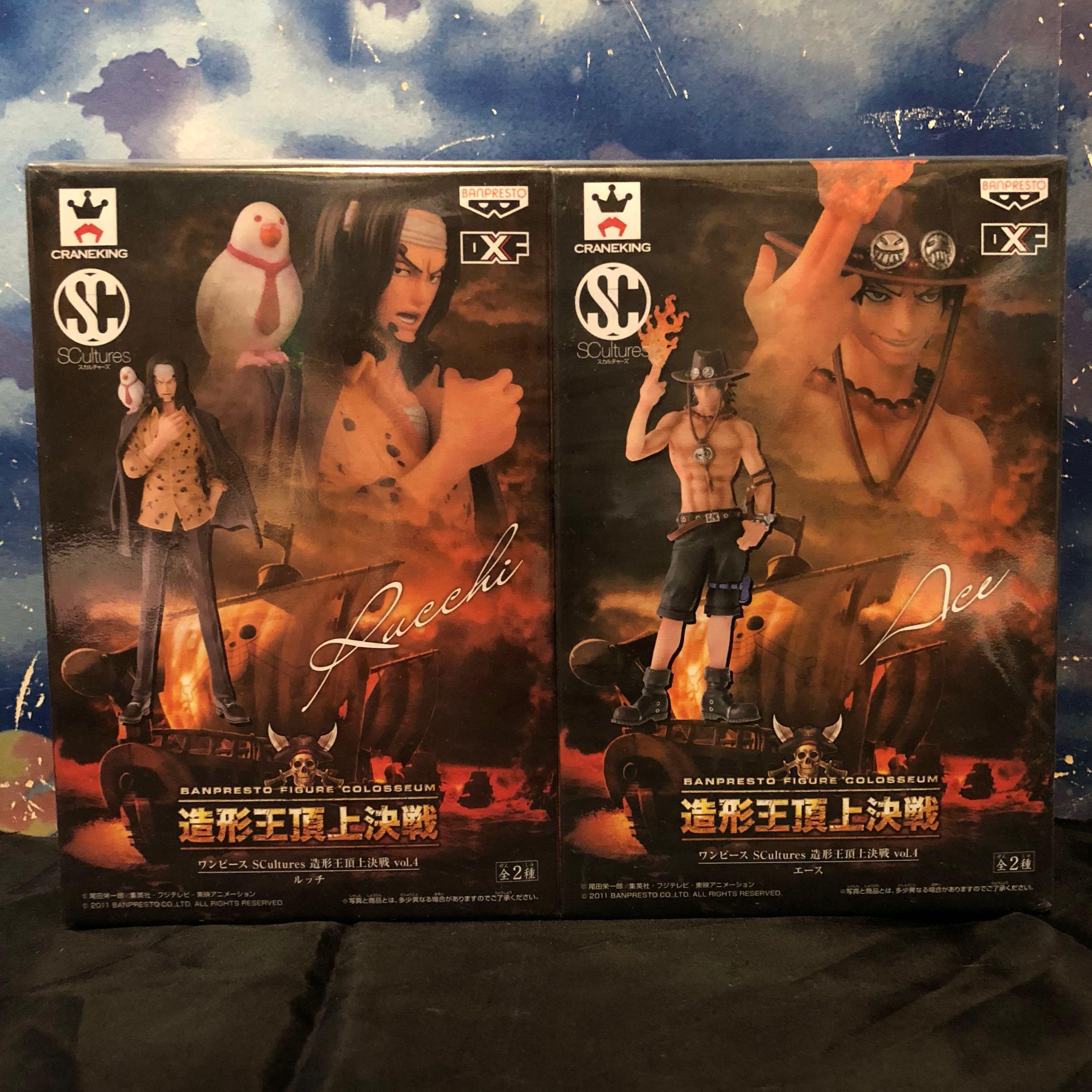 全新絕版 One Piece 海賊王 景品 造型王頂上決戰1 vol.4 艾斯 魯茲
