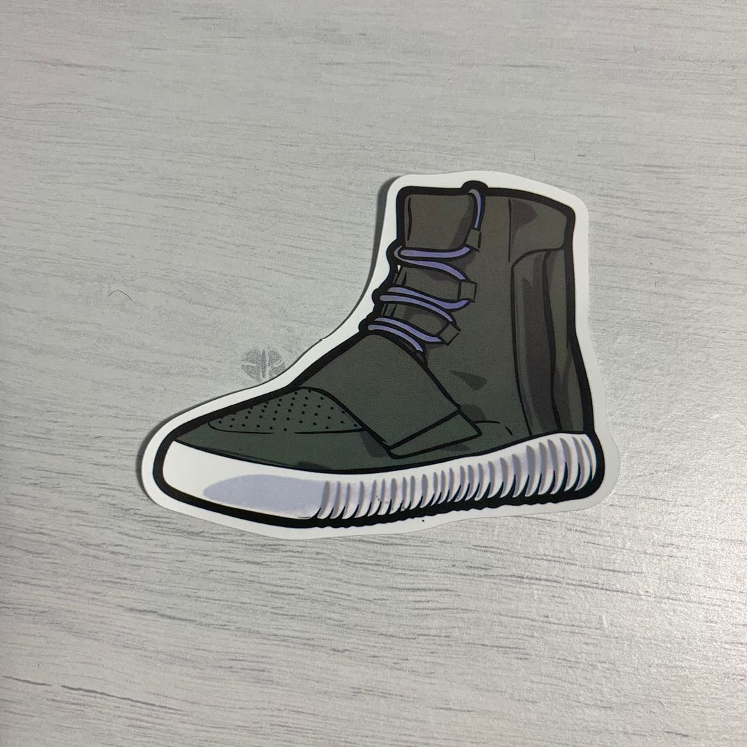 new arrival e7993 09f1d Adidas Yeezy 750 Boost Sneakers Waterproof Stickers