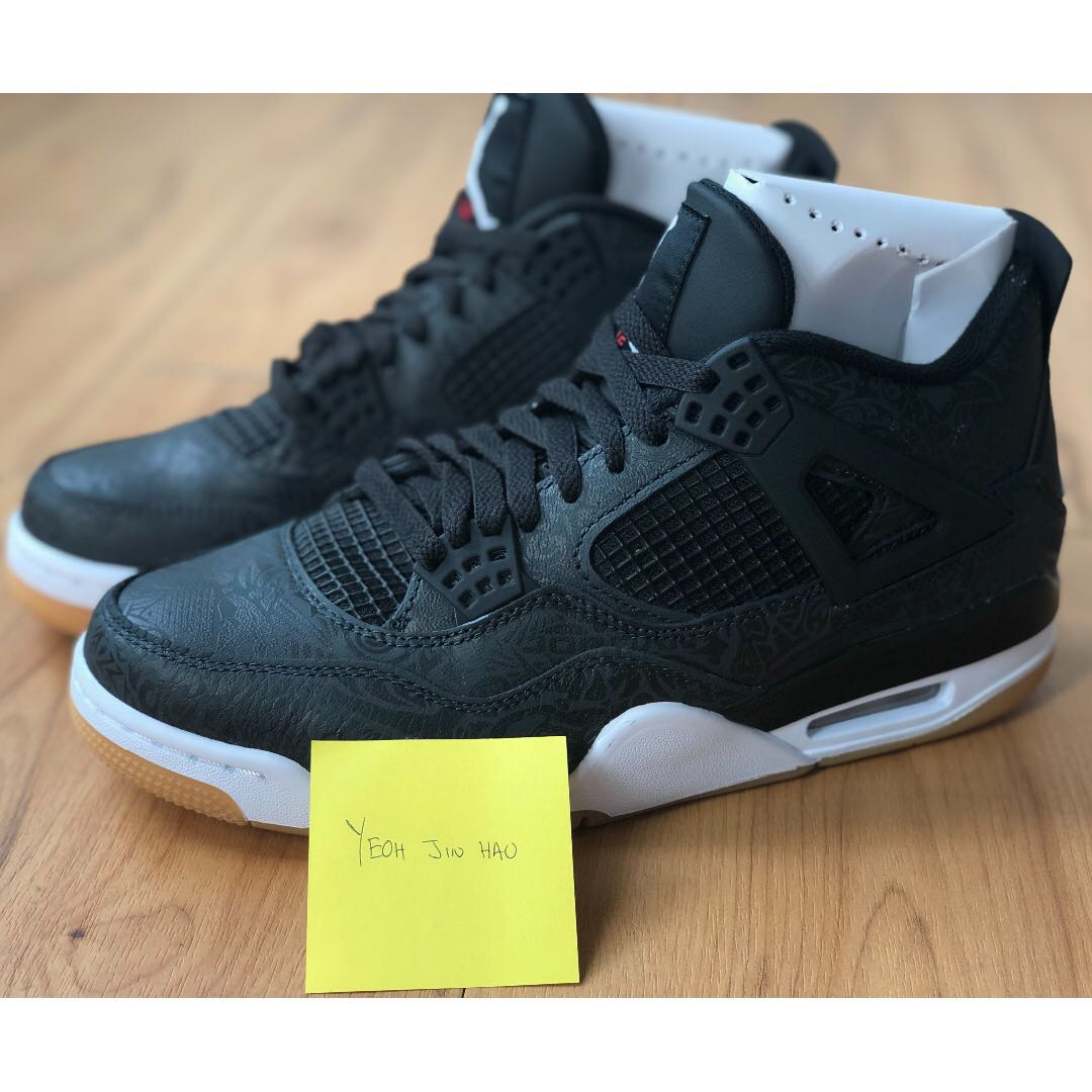 31ebac023078 Air Jordan 4 Retro Laser Black Gum